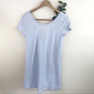 Altar'd State Baby Blue T-shirt Shirt Dress